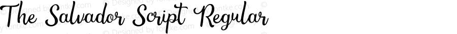 The Salvador Script Regular Version 1.000;PS 001.000;hotconv 1.0.88;makeotf.lib2.5.64775