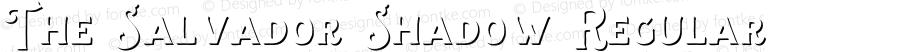 The Salvador Shadow Regular Version 1.000;PS 001.000;hotconv 1.0.88;makeotf.lib2.5.64775