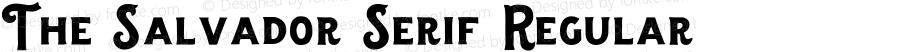 The Salvador Serif Regular Version 1.000;PS 001.000;hotconv 1.0.88;makeotf.lib2.5.64775