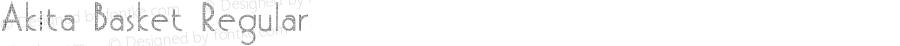 Akita Basket Regular Version 1.001 April 29, 2016