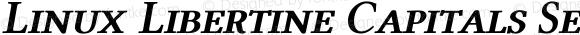 Linux Libertine Capitals Semibold Italic Samll Caps