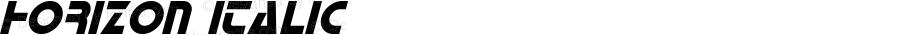 Horizon Italic Version 1.00 January 30, 2016, initial release