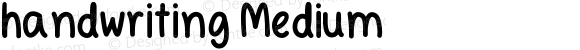 handwriting Medium