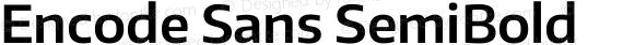 Encode Sans SemiBold preview image