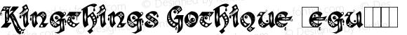 Kingthings Gothique Regular Version 3.0, March 2003