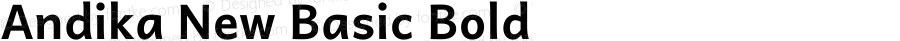 Andika New Basic Bold Version 5.500