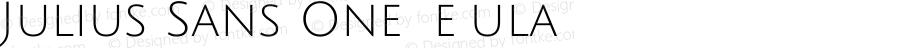 Julius Sans One Regular Version 1.002; ttfautohint (v1.3)