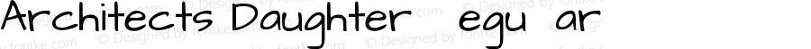 Architects Daughter Regular Version 1.002 2010