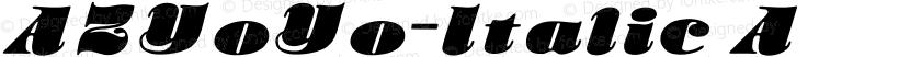 AZYoYo-Italic ☞ Preview Image