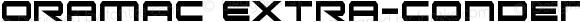 Oramac Extra-Condensed Extra-Condensed