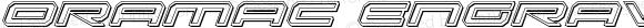 Oramac Engraved Italic