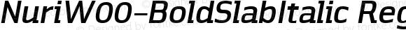 Nuri W00 Bold Slab Italic