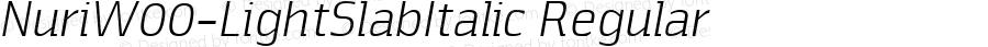 Nuri W00 Light Slab Italic