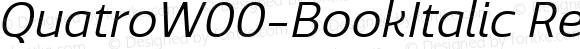 Quatro W00 Book Italic