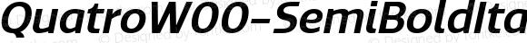Quatro W00 SemiBold Italic