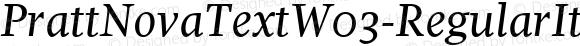 Pratt Nova Text W03 Regular It