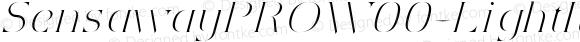 Sensaway PRO W00 Light Italic