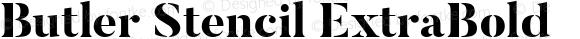Butler Stencil ExtraBold