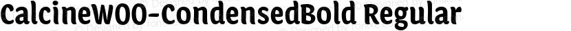 CalcineW00-CondensedBold Regular Preview Image