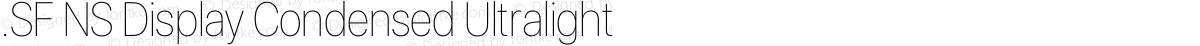 .SF NS Display Condensed Ultralight