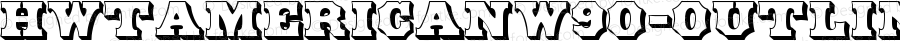 HWTAmericanW90-Outline Regular Version 1.00