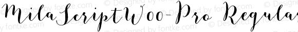 MilaScriptW00-Pro Regular Version 1.21