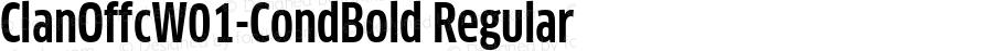 ClanOffcW01-CondBold Regular Version 7.504