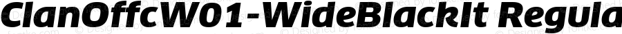 ClanOffcW01-WideBlackIt Regular Version 7.504