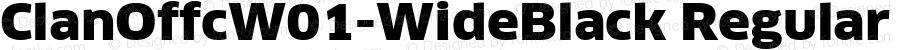 ClanOffcW01-WideBlack Regular Version 7.504