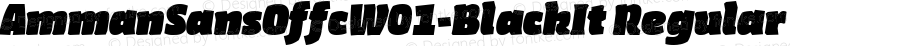 AmmanSansOffcW01-BlackIt Regular Version 7.504
