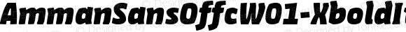 AmmanSansOffcW01-XboldIt Regular Version 7.504