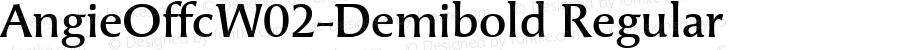 AngieOffcW02-Demibold Regular Version 7.504