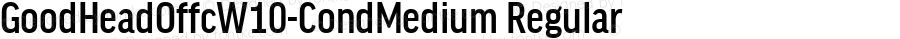 GoodHeadOffcW10-CondMedium Regular Version 7.504