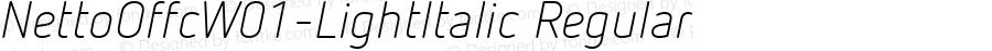 NettoOffcW01-LightItalic Regular Version 7.504