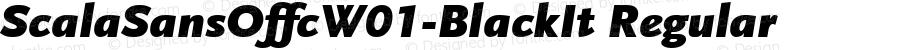 ScalaSansOffcW01-BlackIt Regular Version 7.504