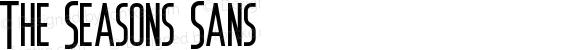 The Seasons Sans Version 1.000;PS 001.001;hotconv 1.0.56