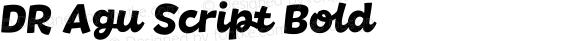 DR Agu Script Bold preview image