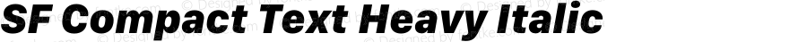 SF Compact Text Heavy Italic