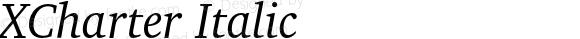 XCharter Italic