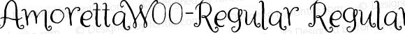 AmorettaW00-Regular Regular Version 1.00