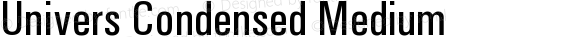 Univers Condensed Medium preview image