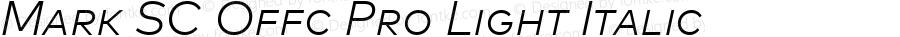 Mark SC Offc Pro Light Italic Version 7.504; 2013; Build 1022
