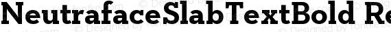 NeutrafaceSlabTextBold Regular preview image