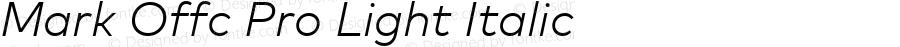 Mark Offc Pro Light Italic Version 7.504; 2013; Build 1022