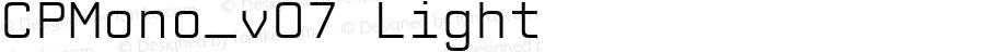 CPMono_v07 Light Version 1.000 2006 initial release