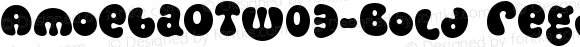 AmoebaOTW03-Bold Regular Version 7.504