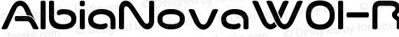 AlbiaNovaW01-Regular Regular preview image