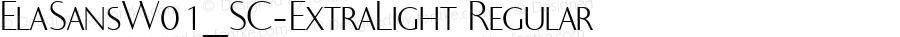 ElaSansW01_SC-ExtraLight Regular Version 1.00