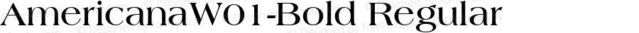 AmericanaW01-Bold Regular Version 1.00