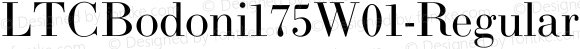 LTCBodoni175W01-Regular Regular Version 1.00